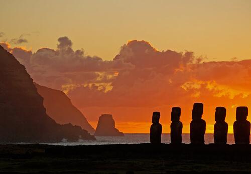 21. Easter Island GÇô Polynesian Triangle, Pacific Ocean